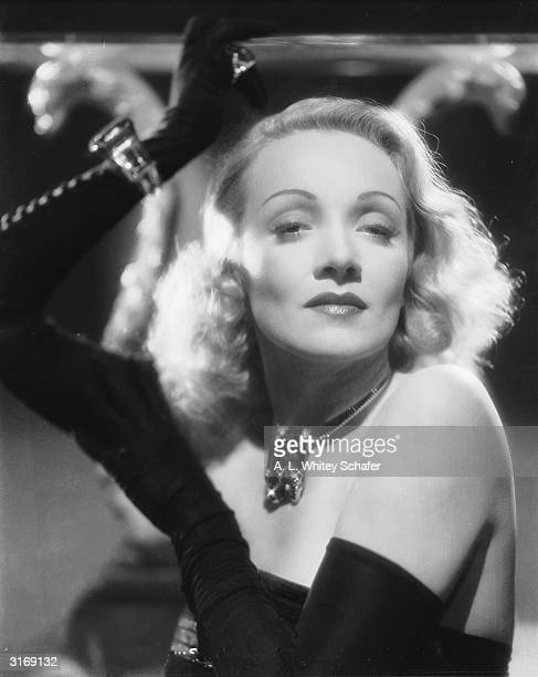 Germanborn actress Marlene Dietrich poses for a publicity still to promote the 1942 film 'The Lady Is Willing' in which she costars with Fred...