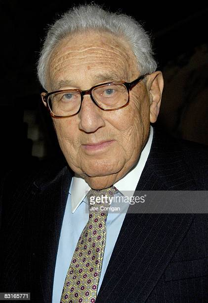 German-born American bureaucrat, diplomat, and 1973 Nobel Peace Prize laureate Henry Kissinger attends the Light House International Henry A....
