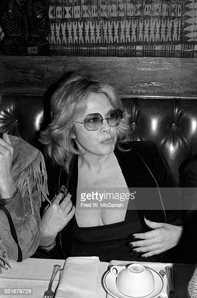 Germanborn American talent agent Sue Mengers at an unidentified restaurant for a 'Kon Tiki' event New York New York November 8 1979