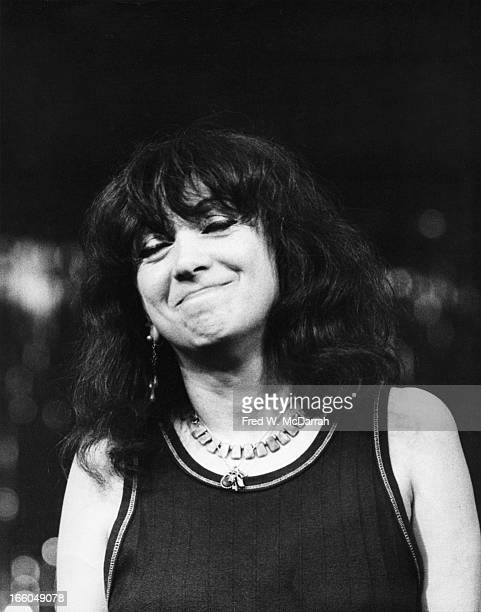Germanborn American theater director and cofounder of The Living Theatre Judith Malina smiles at the OffBroadway Theater Awards New York New York May...