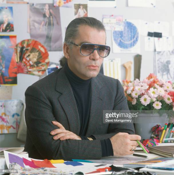 Germanborn fashion designer Karl Lagerfeld 1985