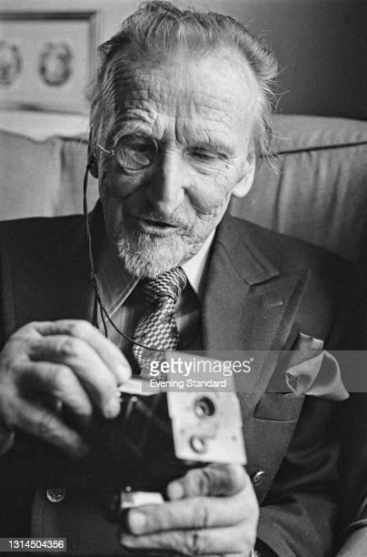 German-born photographer and photojournalist Felix H. Man , UK, 11th December 1973.