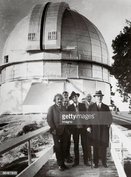 Germanborn physicist Albert Einstein visiting Mount Wilson Observatory California which at that time operated the world's biggest telescope 1931...