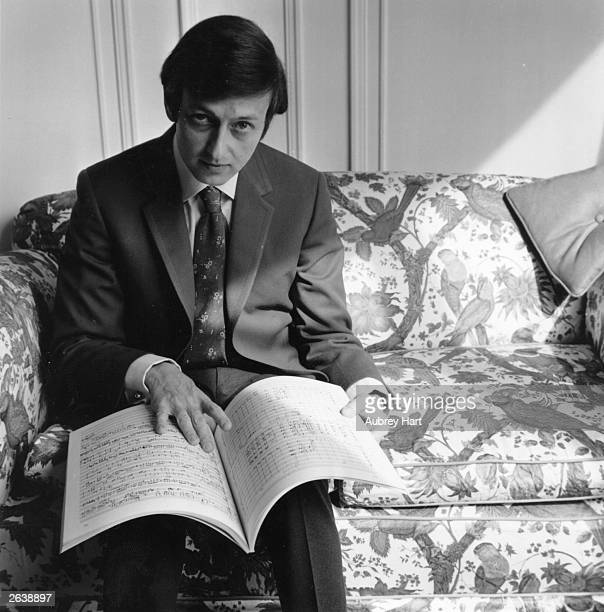Germanborn US conductor and composer Andre Previn at the Savoy Hotel London Original Publication People Disc HK0004