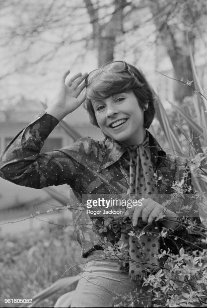 GermanBritish pop singer Ireen Sheer relaxes in Brighton during preparations for the Eurovision Song Contest that Friday 5th April 1974 She is...