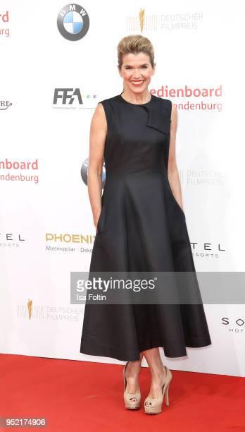 GermanCanadian comedian Anke Engelke attends the Lola German Film Award red carpet at Messe Berlin on April 27 2018 in Berlin Germany