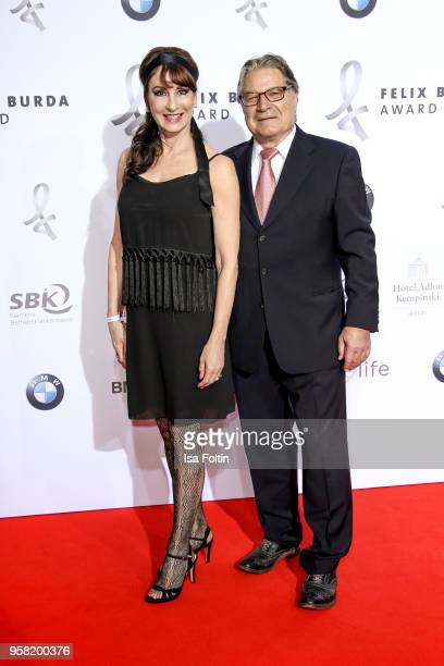 GermanCanadian opera singer Anna Maria Kaufmann and her partner Eckhard Alt attend the Felix Burda Award at Hotel Adlon on May 13 2018 in Berlin...