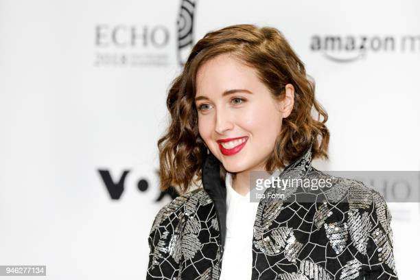 GermanCanadian singer Alice Merton arrives for the Echo Award at Messe Berlin on April 12 2018 in Berlin Germany