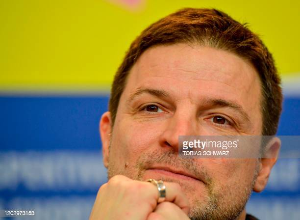 "German-Croatian actor Misel Maticevic attends a press conference for the film ""Exil"" screened in the panorama section on February 24, 2020 at the..."