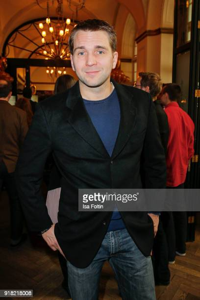 GermanFrench actor Pierre Kiwitt attends the Blaue Blume Awards 2018 at Grosz on February 14 2018 in Berlin Germany
