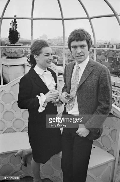 GermanFrench actress Romy Schneider and British actor Tom Courtenay both starring in comedy thriller film 'Otley' UK 4th March 1968