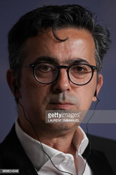 GermanGreek producer Thanassis Karathanos attends on May 18 2018 a press conference for the film 'Ayka ' at the 71st edition of the Cannes Film...