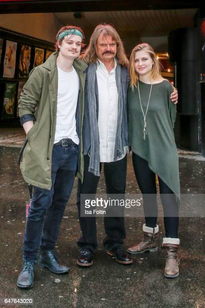 German-Hungarian musician Leslie Mandoki with his son Gabor Mandoki and his daughter Julia Mandoki during the last rehearsal for the concert 'Man...