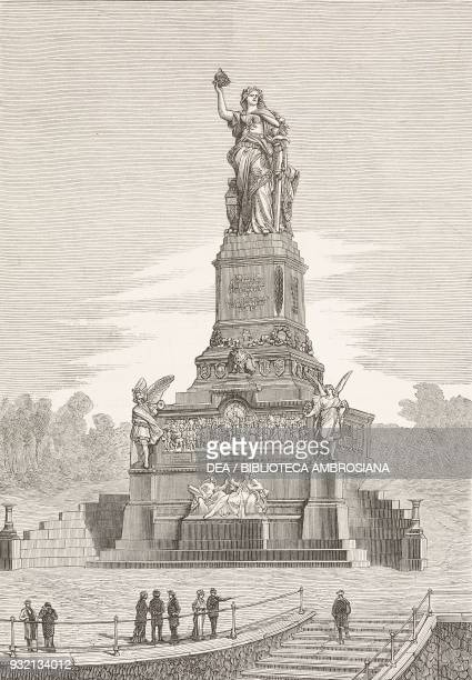 Germania the national monument on the Niederwald unveiled on September 28 Germany illustration from The Graphic volume XXVIII no 723 October 6 1883