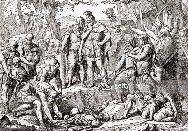 Germanicus buries the bones of the Romans killed in The Battle of the Teutoburg Forest 9 AD Germanicus aka Germanicus Julius Caesar 15 BC 19AD Member...