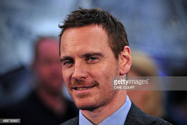 German-Irish actor Michael Fassbender arrives for the UK premiere of 'X-Men Days of Future Past' in central London on May 12, 2014. AFP PHOTO / CARL...