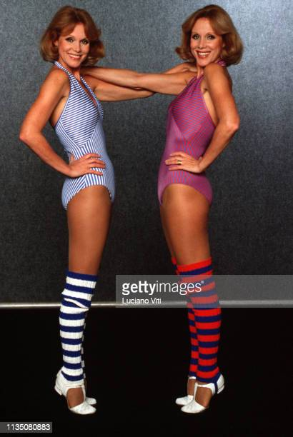 GermanItalian showgirls Alice and Ellen Kessler Rome Italy 1982