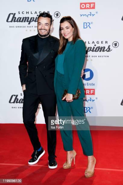 "German-Italian singer Giovanni Zarrella and his wife Jana Ina Zarrella during the television show ""Schlagerchampions - Das grosse Fest der Besten"" at..."