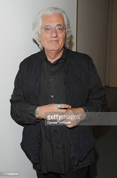 Germano Celant attends 'L'Anima Di Gomma' during Milan Fashion Week Menswear Spring/Summer 2012 held at Triennale Museum on June 20 2011 in Milan...