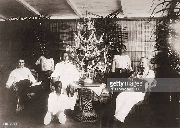 Germans celebrate Christmas in the German colony of Cameroon, in west Africa, circa 1900.