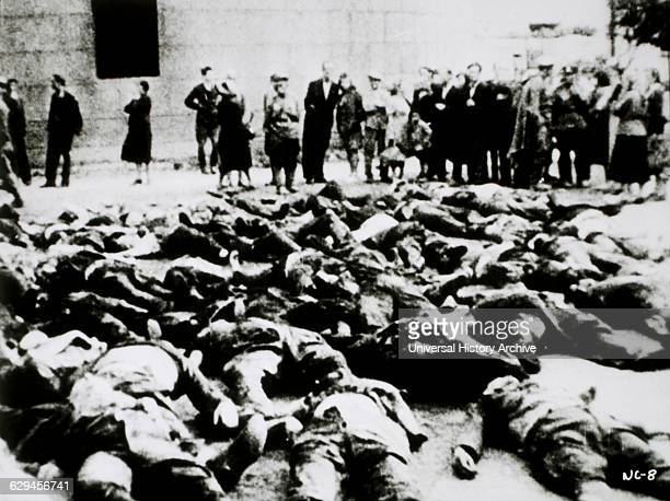 Germans Forced to Witness Concentration Camp Bodies, 1945.