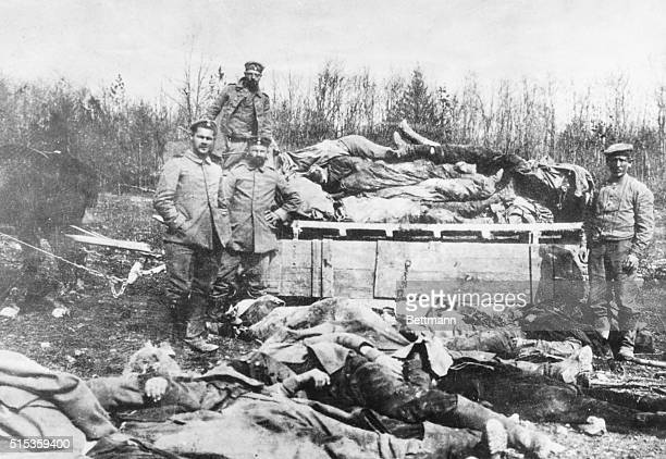 Germans removing their dead by the carload after Siege of Verdun