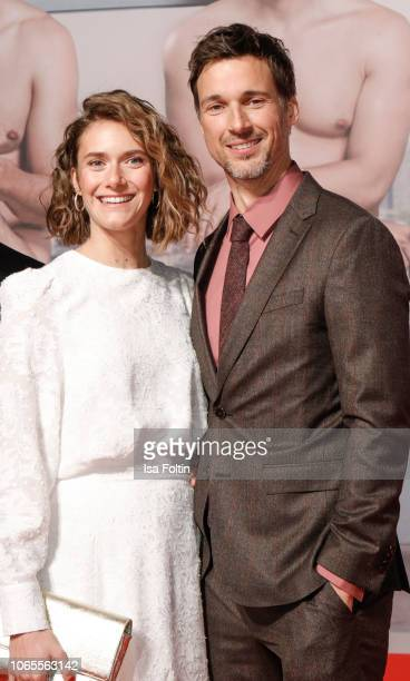 German-Swiss actress Miriam Stein and German actor Florian David Fitz attend the German premiere of the movie '100 Dinge' at CineStar on November 26,...