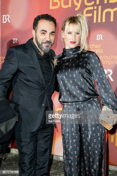 GermanTurkish actor Adnan Maral and his wife Franziska Maral attend the Bayerischer Filmpreis 2018 at Prinzregententheater on January 21 2018 in...