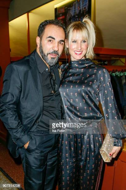 GermanTurkish actor Adnan Maral and his wife Franziska Maral attend the Bayerischer Filmpreis 2018 at Prinzregententheater on January 21 2018 in...