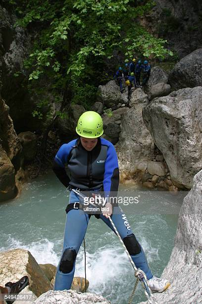 Free time/sport Climbing in a waterfall area