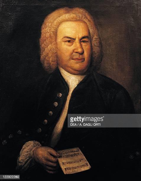 Germany 18th century Portrait of Johann Sebastian Bach German composer and organist oil