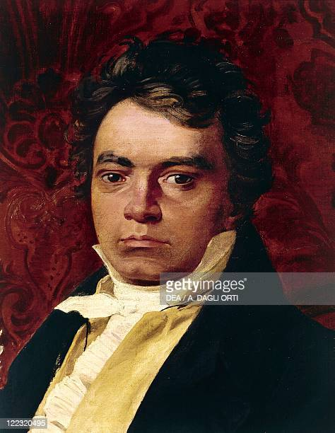 Germany 18th19th century Portrait of Ludwig van Beethoven German composer Detail