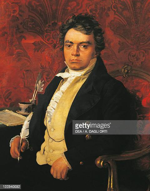 Germany 18th19th century Portrait of Ludwig van Beethoven German composer