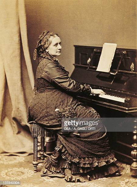 Germany 19th century Clara Josephine Wieck Schumann German pianist and composer at the piano Photographic portrait