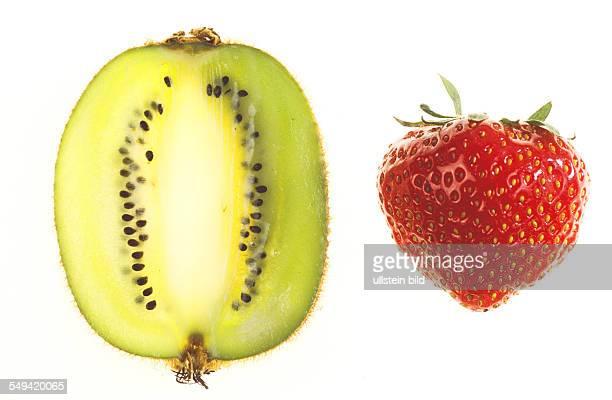 A Strawberry and a kiwi