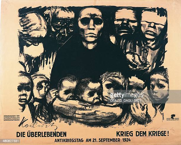 Germany - 20th century - Kathe Schmidt Kollwitz , Die Uberlebenden. Krieg dem Kriege! Poster for the Antiwar Day, 1924.