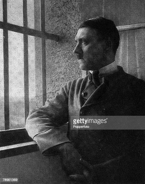 1924 Germany A picture of Adolf Hitler the German fascist dictator pictured as a prisoner in the Fortress of LandsbergamLech where he was confined...