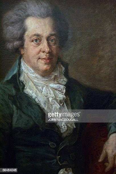 A portrait of Austrian Composer Wolfgang Amadeus Mozart by German painter Johann Edlinger hangs in Berlin's Gemaeldegalerie 20 December 2005 The...