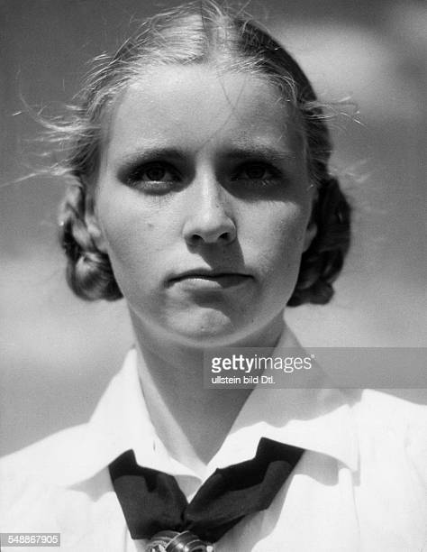 Germany A young girl of the BDM Portrait in uniform undated around 1930s Photographer Max Ehlert Published by 'Koralle' 04/1937 Vintage property of...