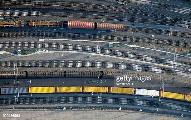 Germany, Aachen, aerial view of freight yard