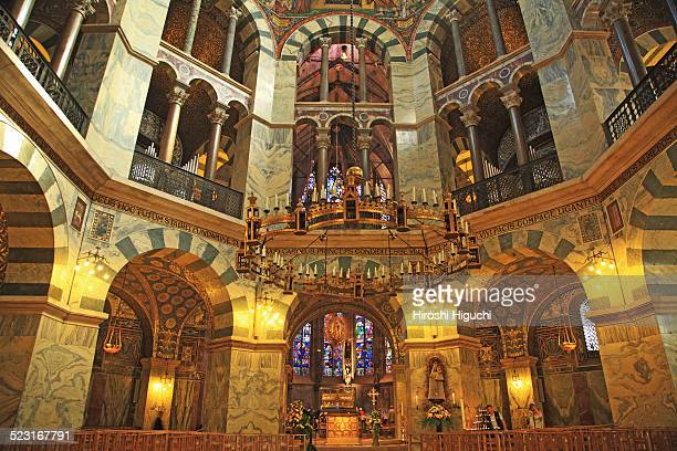 germany, aachen cathedral - aachen stock pictures, royalty-free photos & images