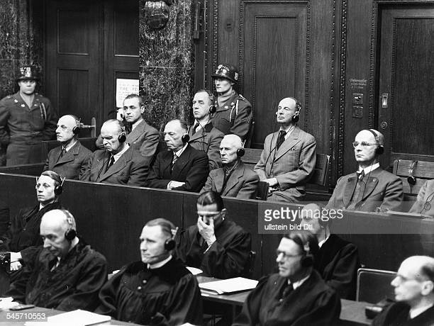 Germany, allied military government.Nuremberg trials - susequent trials XII - High Command Trial Nov.1947-Oct.1948 , palace of justice Justizpalast)...