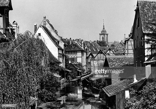 Germany AlsaceLorraine imperial territory Colmar View on the old city in Colmar ca 1940 Photographer Erich Engel Published by 'BZ' 1940Vintage...