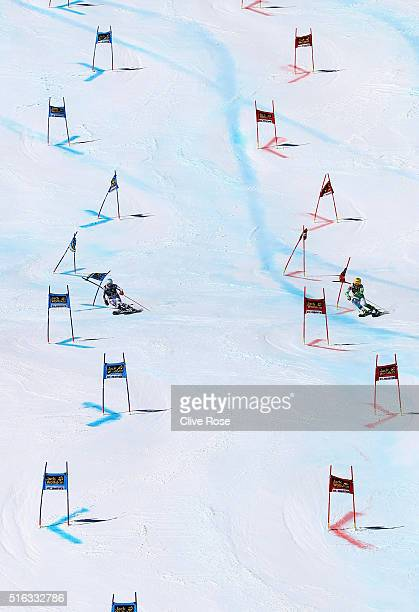 Germany and Slovenia compete during the Audi FIS Alpine Ski World Cup Finals Men's and Women's Team Event on March 18 2016 in St Moritz Switzerland