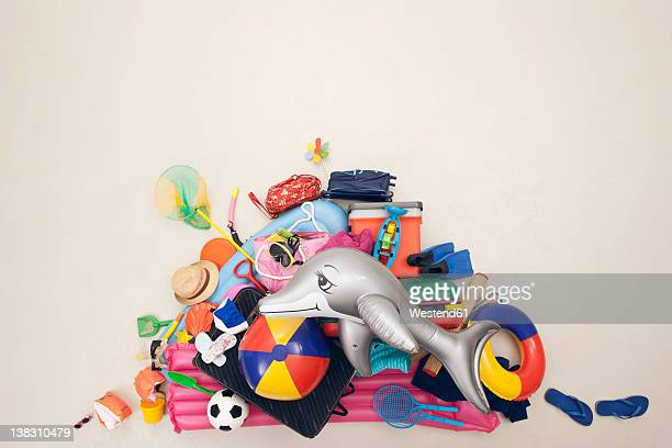 germany, artificial scene with heap of beach toys - manufactured object stock pictures, royalty-free photos & images