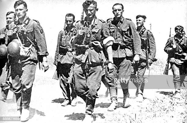 Germany at war Signal magazine Wehrmacht infantrymen marching across France 1940