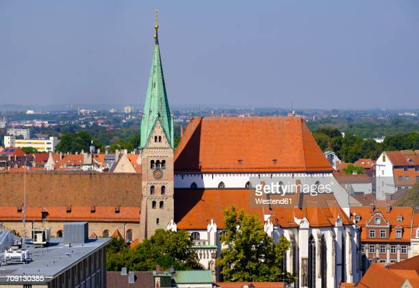 germany, augsburg, cathedral of our lady - augsburg zwaben stockfoto's en -beelden