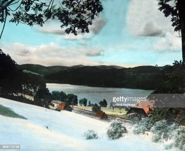 view to Lake Titisee near Neustadt in the southern Black Forest Image date circa 1910 Carl Simon Archive