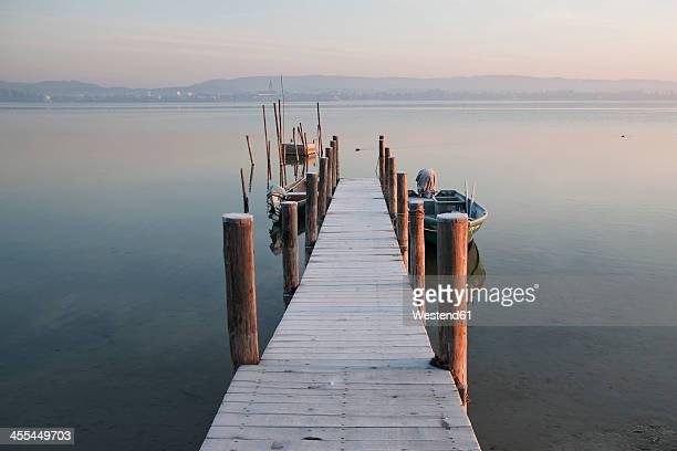 Germany, Baden Wuerttemberg, Jetty on Lake Constance