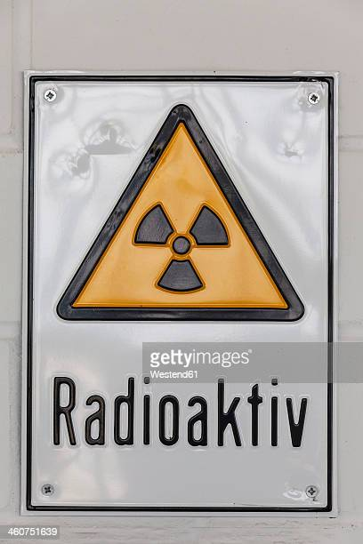 Germany, Baden Wuerttemberg, Laupheim, Sign of radioactive